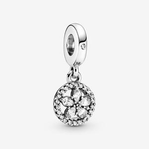 Новое Прибытие Стерлингового серебра 925 Серльни Серльня Снежинка Circle Houndly Charm Fit Original European Charm Bracte Fashion Ювелирные Изделия