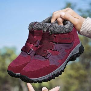 Unisex Winter Boots Women Snow Boots Ankle Fur Shoes Woman Sneakers Flock Non-slip Plus Velvet Warm Outdoor Shoes Size 35-461