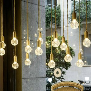 LED Modern Glass Pendant Lights Fixture Hang lamp Designer Loft Style Retro Kitchen Lamp Metal Industrial Lighting Bedroom Bar