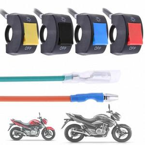 4 Colors1pc 12V 7/8-Zoll-Motorrad-Lenker Ein / Aus-Schalter für LED-Scheinwerfer-Nebel-Kopf-Lampen-Augen-Licht-Auto-Styling Schalter qxli #