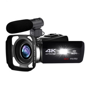 Videocamera 4K 48MP Night Vision Night Vision WiFi Controllo digitale Camiceria da 3,0 pollici Touch-SN Videocamera con microfono