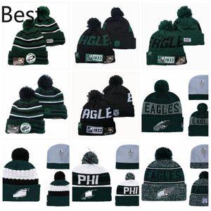 PhiladelphiaEaglesMen Women Youth 2020 Sideline Home Official Sport Knit Hat Black Football Cap