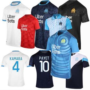 2020 2021 마르세유 축구 유니폼 샌슨 Cuisance THAUVIN 카마라 PAYET 홈 떨어져 3 마르세유 (20) (21) 축구 훈련 폴로 셔츠 4XL