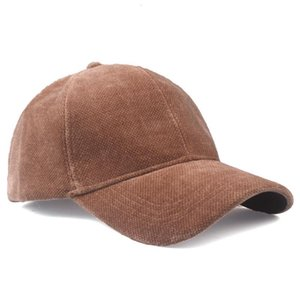 Corduroy Baseball Cap Men and Women Ball Caps Autumn Winter Fashion Woolen Solid Color Thick Warm Hat