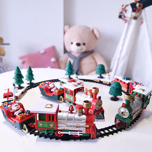 Christmas toy electric rail car small train toy children's electric educational car foreign trade explosions welcome to order