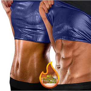 Women Men Thermo Shirt Sweat Sauna Tank Tops Body Shapers Waist Trainer Slimming Vest Fitness Shapewear Modeling Belt