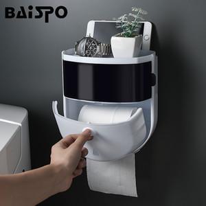 Baispo Portabicchiere portatile porta carta da bagno in plastica impermeabile scatola di tessuto a muro distributore di carta igienica Home Bathroom Storage rack C1020