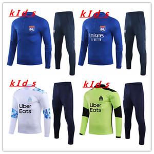 2020 2021 Kids Olympique Lyon Soccer Tracksuit 2020 21 Kids Chandal Futbol Lyonnais Aouar Mailleot De Football Kids