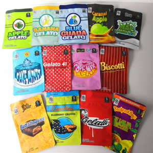 Backpack boyz 3 5g mylar bags 3.5g resealable smell proof bags baggies backpack boyz BISCOTTI GELATO 41 GUARANA BILLY KIMBER ZERBERT GELATTI