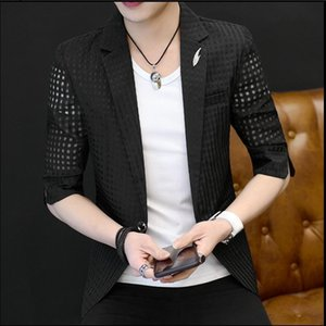 2020 Blazers Men Small Hollow Sun Protection Fine Sleeves Seven Points Jacket Will See Thin Section M-3xl Owcm
