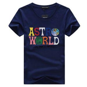 Summer Brand New Fashion Hip Hop T Shirt Men Women Travis Scotts ASTROWORLD Print Logo Couple Lovers Harajuku T-Shirts