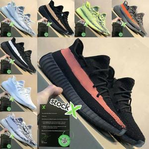 2020 Adidas Yeezy 350 Boost sply 350 V2 Yeeyz Boots NUEVA baratas Hombres Mujeres de la manera Negro Blanco Rojo Zapatos Casual Bolsa Zipper Cremallera Piezas v5899