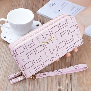 Wholesale new hand hold wallet ladies long double zipper Korean fashion letters large capacity double wallet wallet mobile phone small bag09