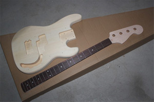 Real Pictures From Factory 4 strings Bass Neck Semi-finished Electric Bass Guitar with Rosewood Fingerboard,offer customize