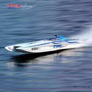 Neue Ankunft Pagani Zonda Katze Dual Rumpfboot Fiberglas Hull RC Boot mit blauer Beschichtung bis 100km / h