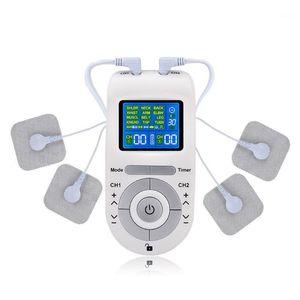 عشرات العشرات الكهربائية 12 أوضاع العلاج الرقمي آلة القطب منصات الأسلاك massager1