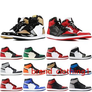 Men 1 OG Mens Basketball Shoes Chicago Black White Pine Green Homage To Home Top Paris 1s Men stylist Sneakers Size 7-13