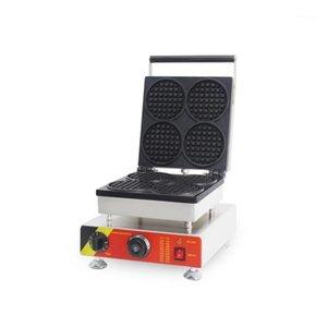 Ekmek yapımcıları Ticari elektrikli waffle koni makinesi makinesi ile yuvarlak şekil1