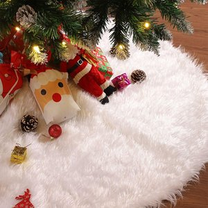 120cm Christmas Tree Skirt Fluffy White Xmas Tree Base Cushion Mat Holiday Christmas Ornaments Home Party Decorations sqcINk sports2010