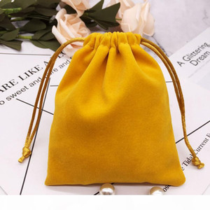 Velvet Pouch Drawstring Bag Dust Proof Jewellery Cosmetic Crafts Storage Gift Packaging Pouches for Boutique Retail Shop Sales Bag