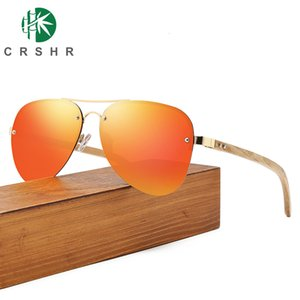 Sun Vintage Eyewear Sunglasses Men Design Driving Classic Crshr Aviator-style Polarized Brand Women's Metal&wood Pilot Glasses Emvko