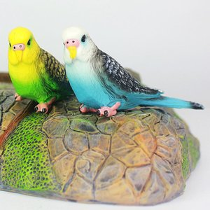 Творческое моделирование Попугай Попугай Миниатюрные пейзаж орнамент модель животных Lawn Фигурка Искусственная птица Фотография Реквизит