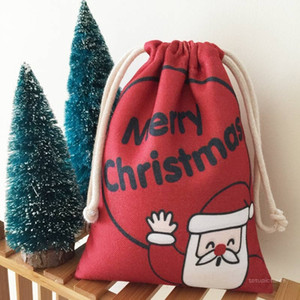 DHL FREE SHIPPING ! Christmas Bag Santa Claus Bag Large New Year Gift Bag Customized logo Wholesale