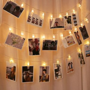 Photo Clip LED String Lights 1.5m 2m 3m 5m 6m 10m Battery or Plug Christmas Holiday Party Wedding Decoration Picture Fairy Lights Lamp
