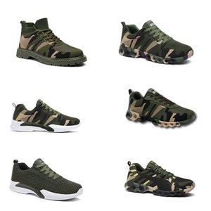 2020 Без бренда Hotsale Дизайнерские Обувь Мужчины Женщины Беговые Обувь Камуфляжная Армия Зеленый Открытый Тренер Siez 36-44 Стиль 305