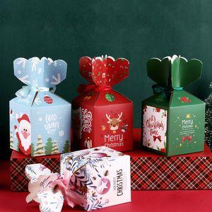 Mutlu Noel kağıt kutusu 2020 yeni yaratıcı karikatür Noel hediye kutusu nokta güvenli meyve paketleme kutusu ucuz