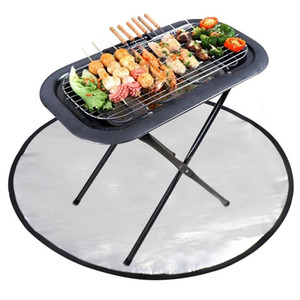 Outdoor BBQ Protection Mat Environmental Protection Mat Fire Pit Pad Terrace Grill Protect Camping Hiking Barbecue Supplies