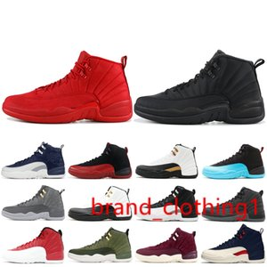 12 12s High Basketball Shoes Mens Gym Red Wool Michigan Nylon Taxi Gamma Blue NYC XII Men stylist Shoes Sport Sneakers US 7-13