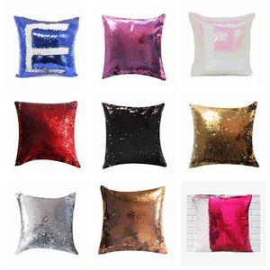 Sublimation Blank Case Mermaid Sequins Cases DIY Cushion Throw Magic Pillows Cover Sofa Pillowcases Pillow Case DHC3472