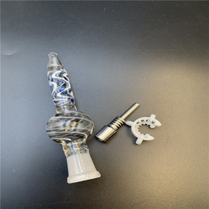 Manufacturer sells high quality nectar collector with quartz nail nector collecting oil rig glass bong pipe smoking accessories