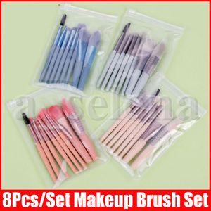 8 Pcs Make Up Tool Eye Brush Eyeshadow Eyeliner Nose Smoky Eyebrow Comestic Set Makeup set brush beauty tools