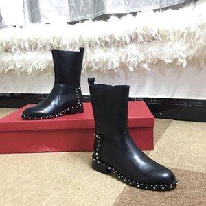 Pas cher de neige d'hiver en cuir femmes Australie Classique demi-longues bottes cheville noir marine marron gris bleu café rouge Womens fgc19082202