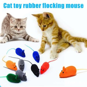 Newly Cat Squeaky Mouse Toy Dog Cat играет игрушка Squeak Show False Cat Mice CLA881