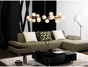 Nordic glass ball chandelier light gold dinning room modern Kitchen hanging lamp light fixture suspension luminaire 110 220V LED