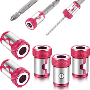 Magnetizer Ring Metal Magnetizer Screw, Removable for 1 4 Inch  6.35 mm Hex Screwdriver and Power Bits