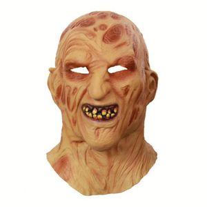 Halloween Cosplay di orrore Halloween Party Mask maschera di paura per adulti Krueger Costume spaventoso Freddy Nuovo Natale Caqit