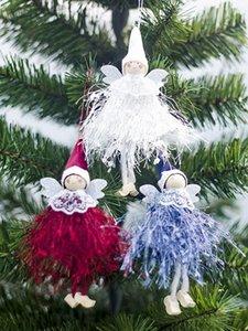 Рождественский орнамент Симпатичные Ангел куклы кулон Рождественская елка висячие украшения для домашнего украшения партии Дети подарков 5aOd #