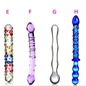 الزجاج القضيب أنثى ولعب الجنس ذكر الاستمناء معدات الزجاج دسار Crystyl الزجاج دسار الاستمناء دسار واقعية