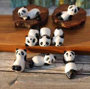 Ceramic Panda Chopsticks Stand Holder Porcelain Spoon Fork Knife Rest Rack Restaurant Table Desk Decor SN3409