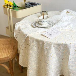 FSISLOVER Daisy Nappe Jacquard frais Dining Table basse couverture fond brodé tissu manteau mesa nappe