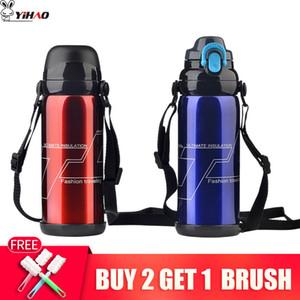 Yihao Edelstahl Isolierflasche 800ml 880ml Flasche Vakuum Thermo Thermo-Kaffee Garrafa Termica Sport Termo