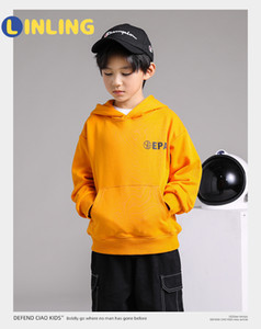 LINLING Fashion Autumn Winter Active Cotton Coat Toddler Kids Boys Clothes Hooded Hoodie Letter Sweatshirt Tops Clothes P255 1006