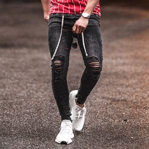 Splash Ink uomo vernice Jeans Fashion Trend rotto asola Fold Zipper Denim Pantaloni Designer Maschio Nuova coulisse lavato stirata sottili Jeans