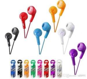 Gumy HA FR6 gomoso auscultadores Earbuds mini-3.5mm in-fone de ouvido HA-FR6 Gumy Plus com microfone para telefone Android inteligente com MQ300 pacote de varejo