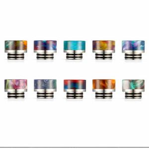 Resina 810 Drip Tip Bocal fio Bore Dicas resina colorida Ampla Bore Drip Dicas para TFV8 TFV12 Atomizers Tanque Kennedy RDA