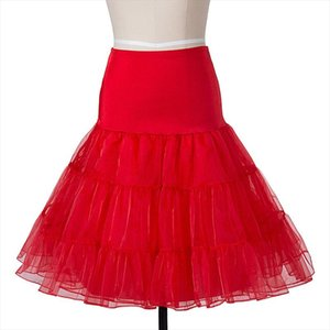 Summer Skirts Vintage Women Ball Gown Tutu Skirt Swing Rockabilly Petticoat Underskirt Fluffy Pettiskirt For Wedding